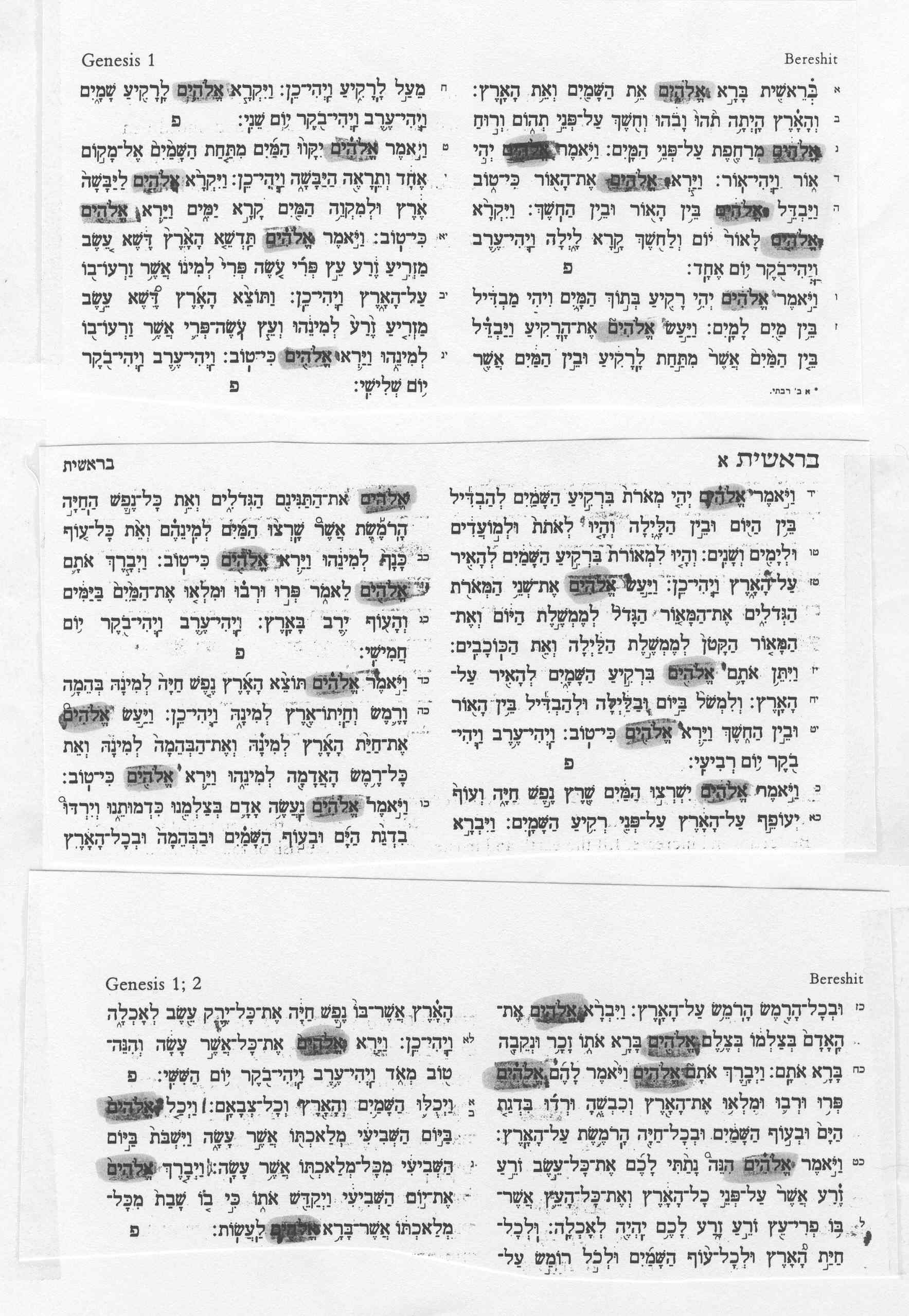 Original Hebrew Text